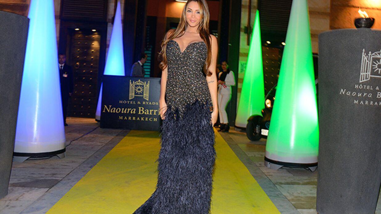 DIAPO Nabilla a bien foulé le tapis (jaune) de Marrakech!