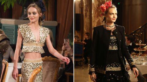 DIAPO Lily-Rose Depp, ravissante, défile pour Chanel avec Cara Delevingne et Pharrell Williams