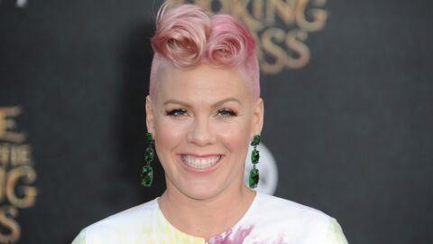 Pink se félicite de n'avoir perdu aucun kilo de grossesse un mois et demi après son accouchement