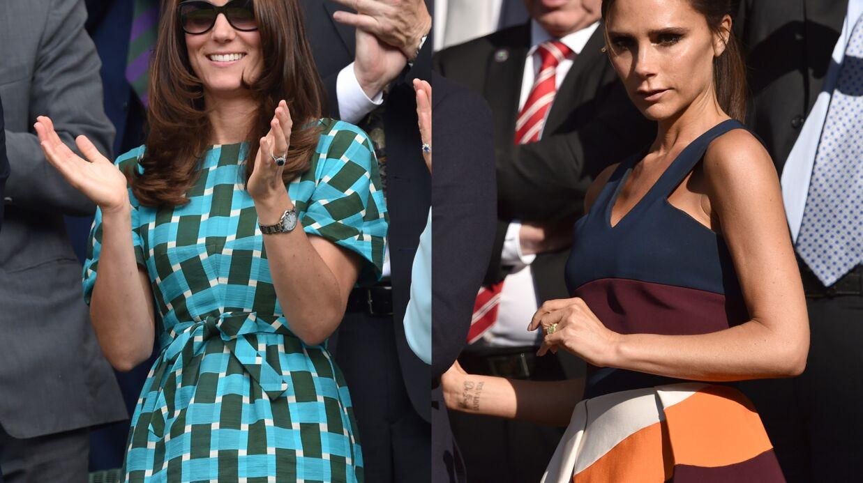 PHOTOS Kate Middleton et Victoria Beckham chics avec leurs hommes à Wimbledon