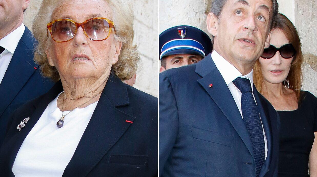 PHOTOS Bernadette Chirac, Nicolas et Carla Sarkozy aux obsèques de Charles Pasqua