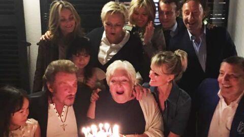 PHOTOS Johnny Hallyday, Vanessa Paradis, Muriel Robin, Emmanuel Macron réunis pour l'anniversaire de Line Renaud