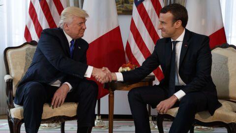 Emmanuel Macron: son étonnante préparation avant sa poignée de main avec Donald Trump