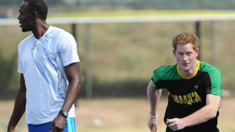 PHOTOS Le prince Harry bat Usain Bolt à la course… en trichant