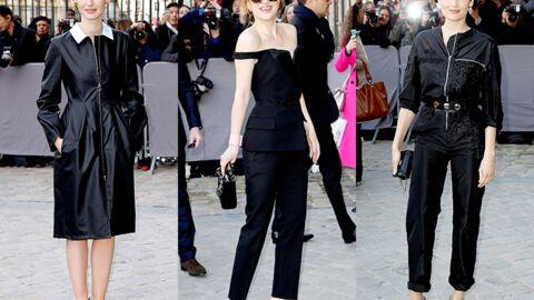 PHOTOS Dakota Johnson essaie d'être sexy au défilé Dior