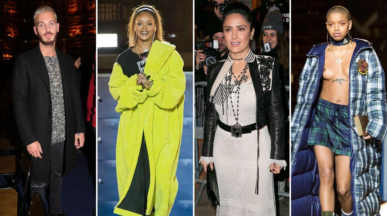 PHOTOS Rihanna: son défilé très sexy pour Fenty, M Pokora et Salma Hayek n'en ont rien raté