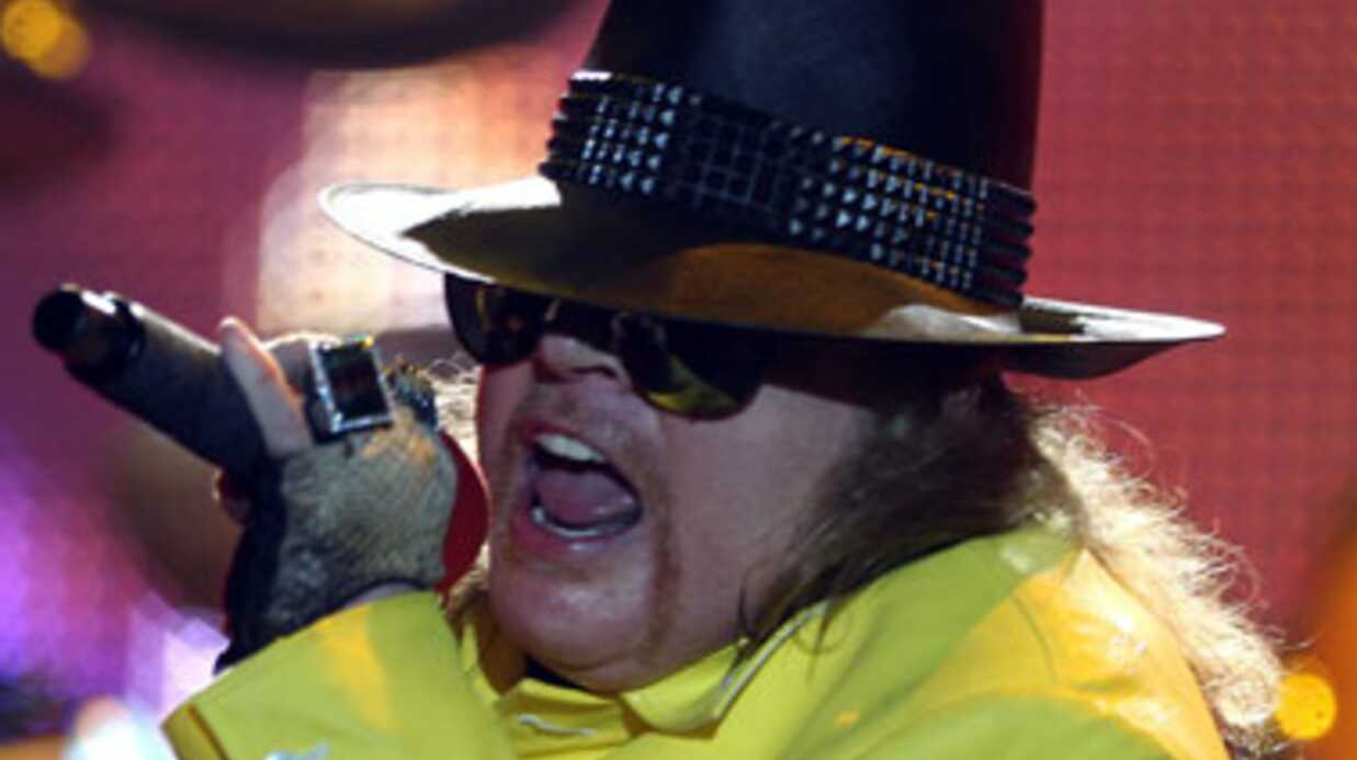 Axl Rose des Guns N'Roses est méconnaissable