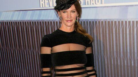 PHOTOS Le look raté du jour: Leslie Harter Zemeckis et son étrange robe rayée