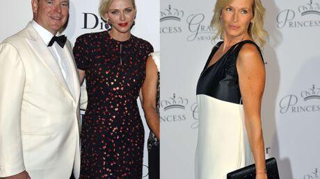 PHOTOS Charlène de Monaco sublime et Estelle Lefébure rayonnante pour une soirée de gala