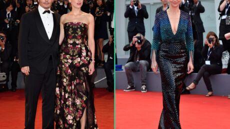 PHOTOS Mostra: Johnny Depp et Amber Heard très amoureux face à Juliette Binoche ultra décolletée