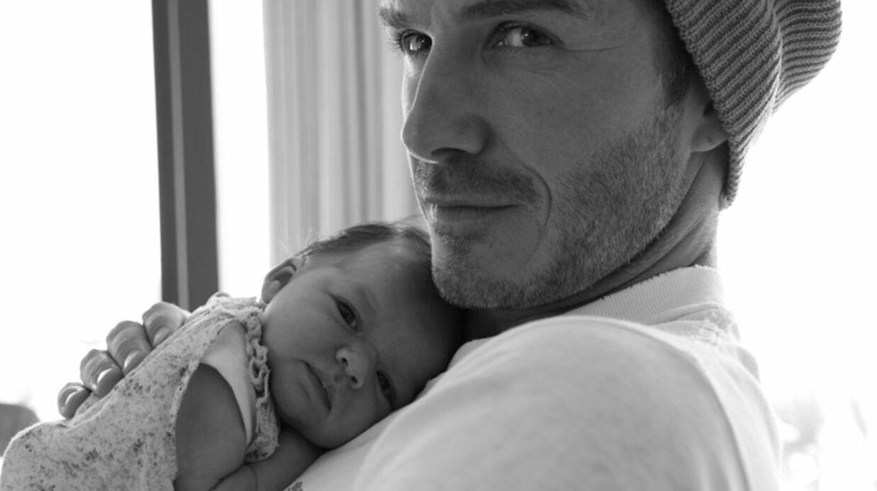 PHOTO David Beckham pose avec sa fille, Harper Seven