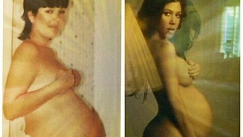 PHOTO Kourtney Kardashian enceinte : le photomontage clin d'œil à sa mère