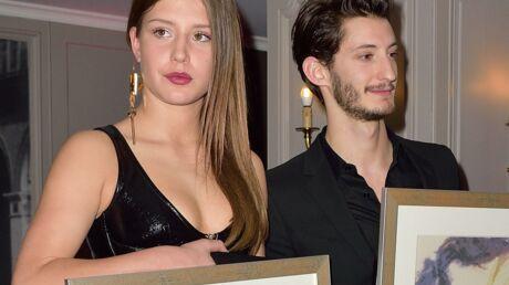 PHOTOS Adèle Exarchopoulos en cuir pour recevoir le prix Romy Schneider avec Pierre Niney