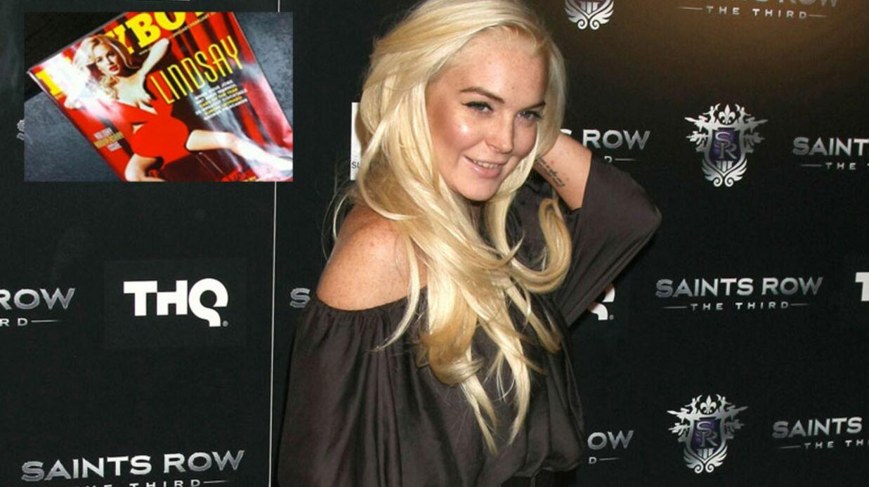 PHOTO Regardez Lindsay Lohan en couverture de Playboy