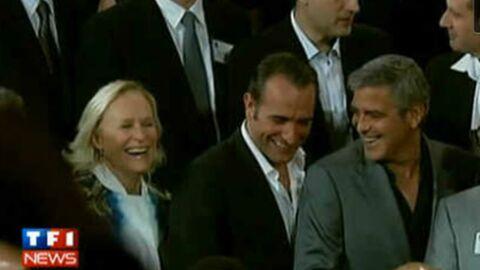 VIDEO Jean Dujardin en plein fou rire avec George Clooney