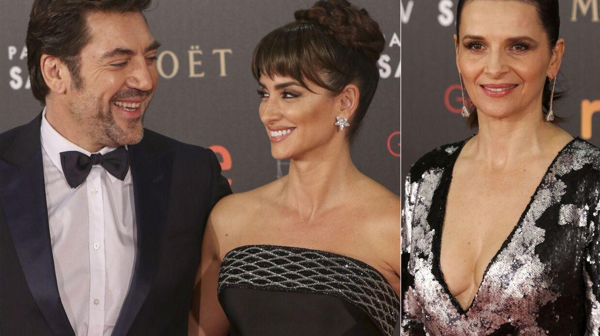 PHOTOS Javier Bardem et Penélope Cruz amoureux, Juliette Binoche très décolletée aux Goya 2016
