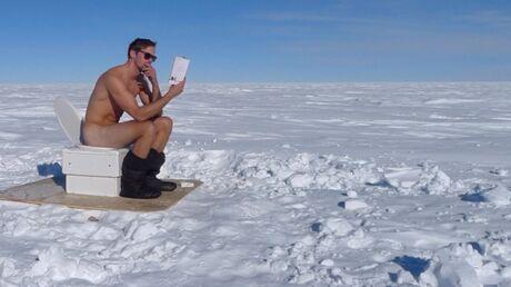 PHOTO Alexander Skarsgård (True Blood) tout nu en Antarctique