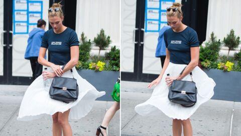 PHOTOS L'instant Marilyn Monroe de Karlie Kloss: une bouche d'aération soulève sa jupe
