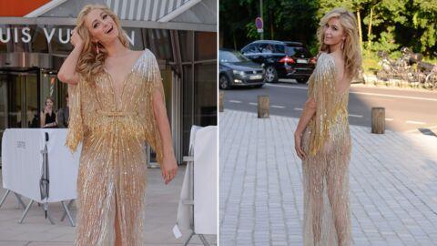 PHOTOS En robe transparente, Paris Hilton en montre trop à un gala de charité