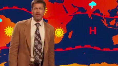 Brad Pitt hilarant en Monsieur Météo ringard dans une vidéo engagée dirigée contre… Donald Trump