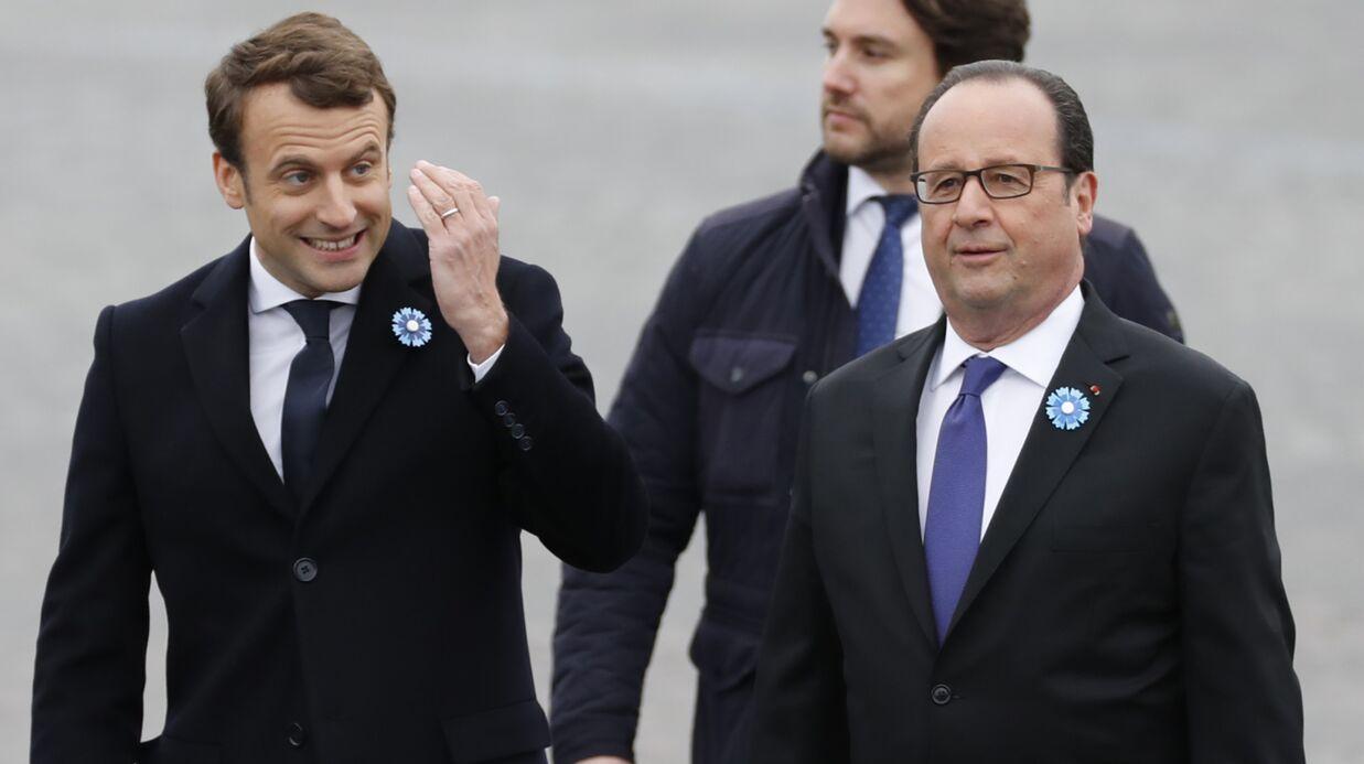 PHOTOS Emmanuel Macron aux côtés de François Hollande durant la commémoration du 8 mai 1945