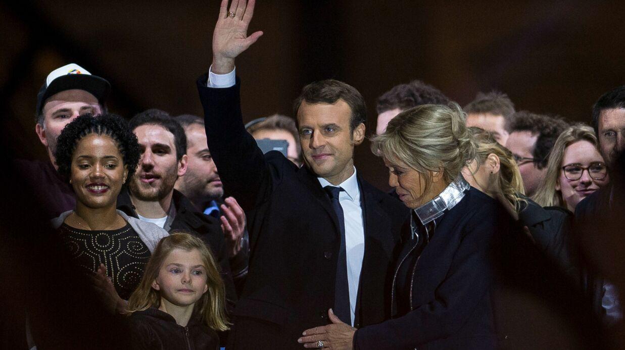 PHOTOS Emmanuel Macron a fêté sa victoire au Louvre en famille: revivez sa grande soirée!