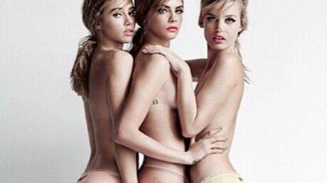 PHOTO Cara Delevingne et ses copines en culotte pour Vogue