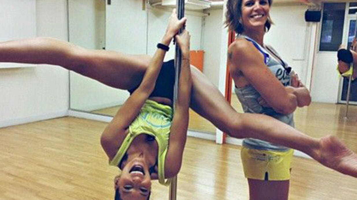 PHOTO Laury Thilleman se lâche sur une barre de pole dance