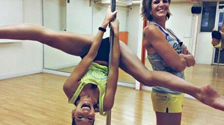 PHOTO Laury Thilleman se lâche sur une barre de pole dance