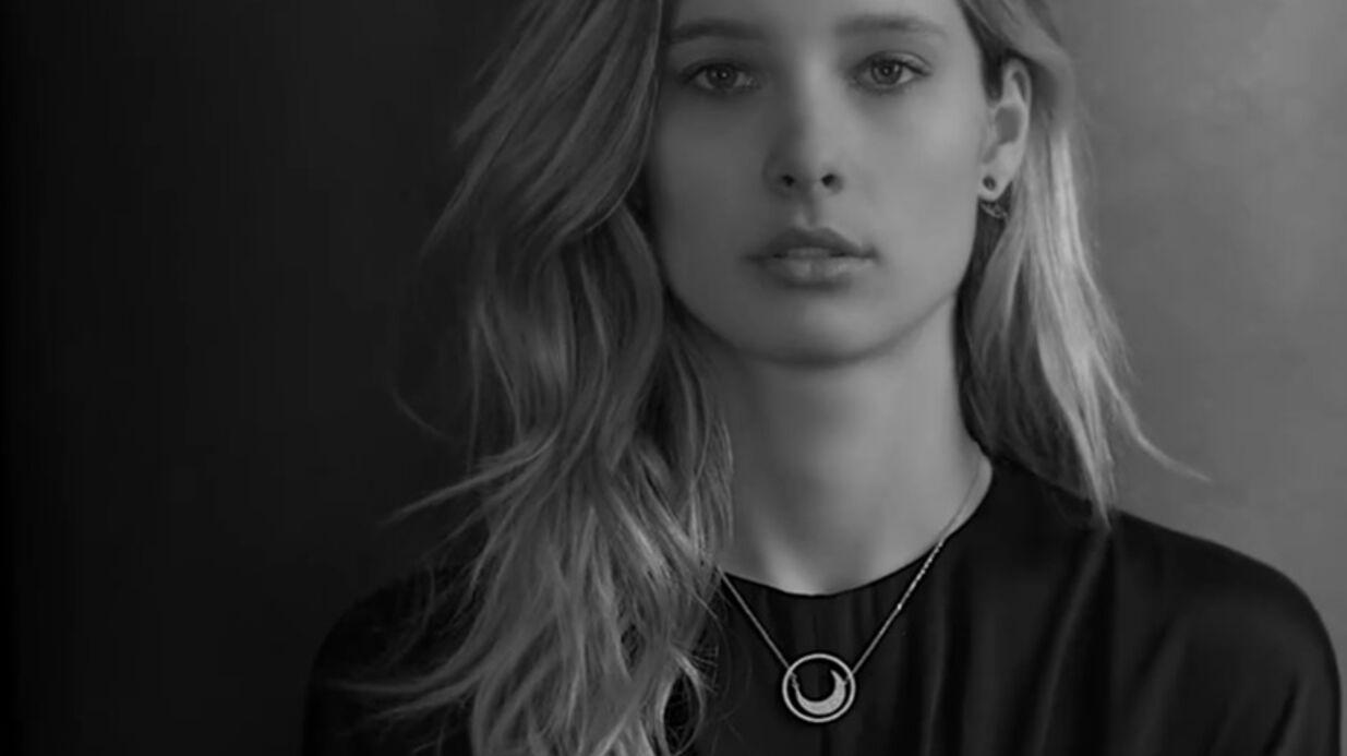 VIDEO Ilona Smet: la fille d'Estelle Lefébure et David Hallyday égérie d'une marque de bijoux