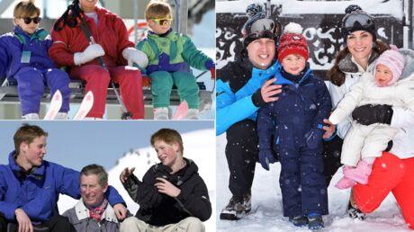 DIAPO Les photos souvenir des vacances d'hiver du prince William, de tout petit à père de famille