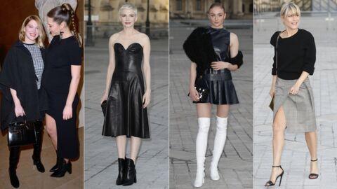 PHOTOS Léa Seydoux et Adèle Exarchopoulos complices, Michelle Williams et Sophie Turner sexy en cuir pour Louis Vuitton