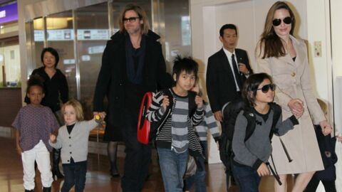 DIAPO Brad Pitt, Angelina Jolie et leurs six enfants au Japon