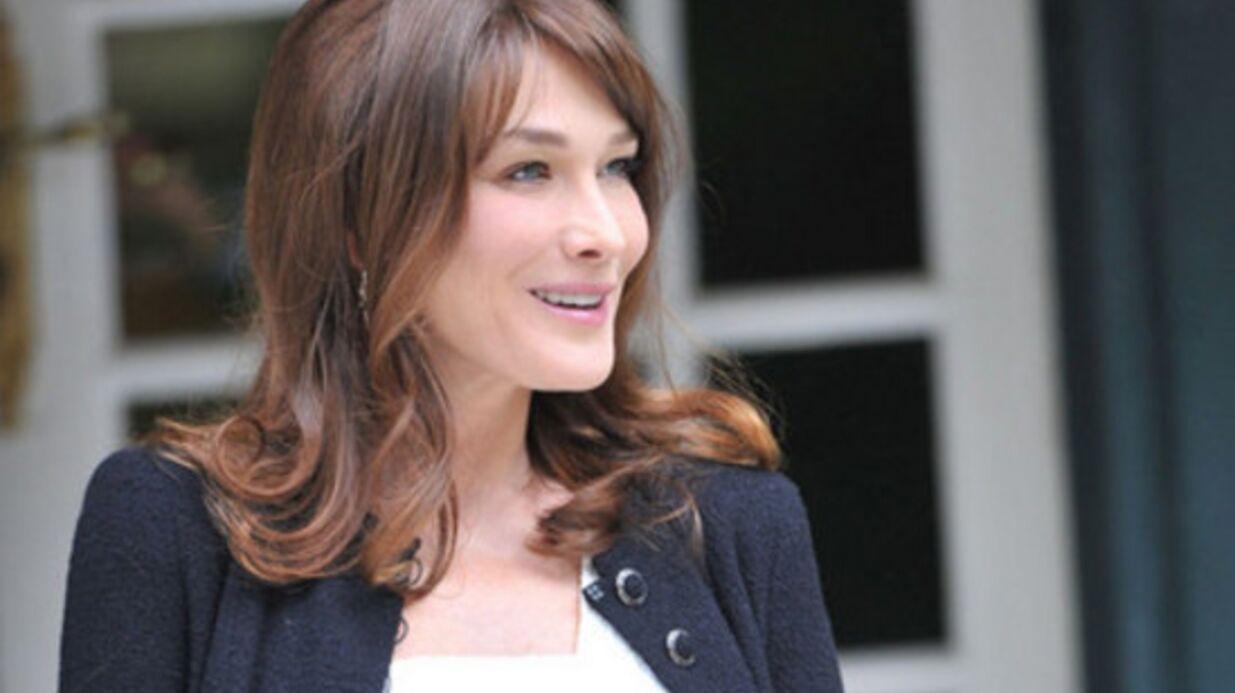 Carla Bruni en virée shopping pour son bébé
