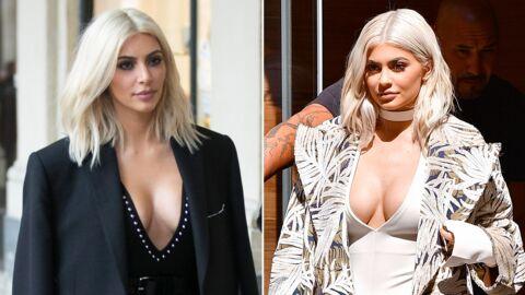 A vous de voter, Kim Kardashian vs Kylie Jenner: à qui le blond platine va-t-il le mieux?