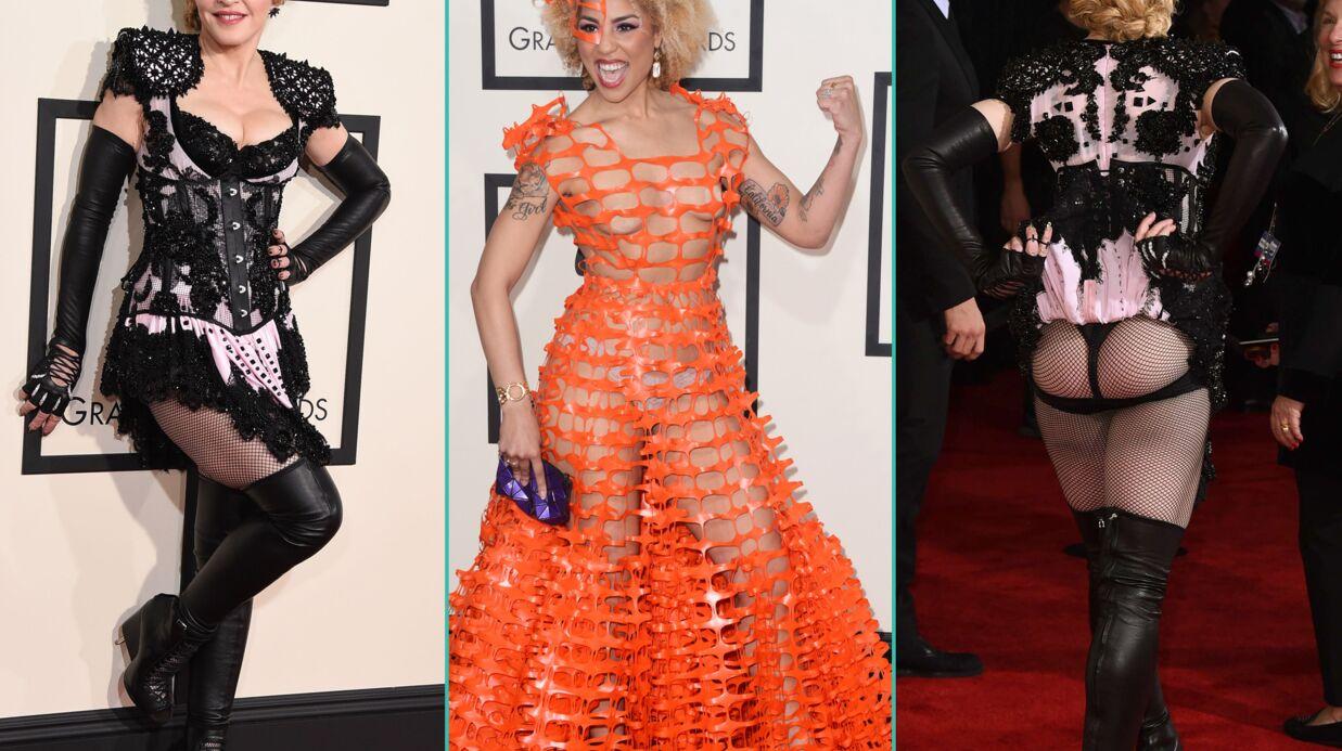 PHOTOS Madonna fesses à l'air, Nicki Minaj ultra décolletée aux Grammy Awards