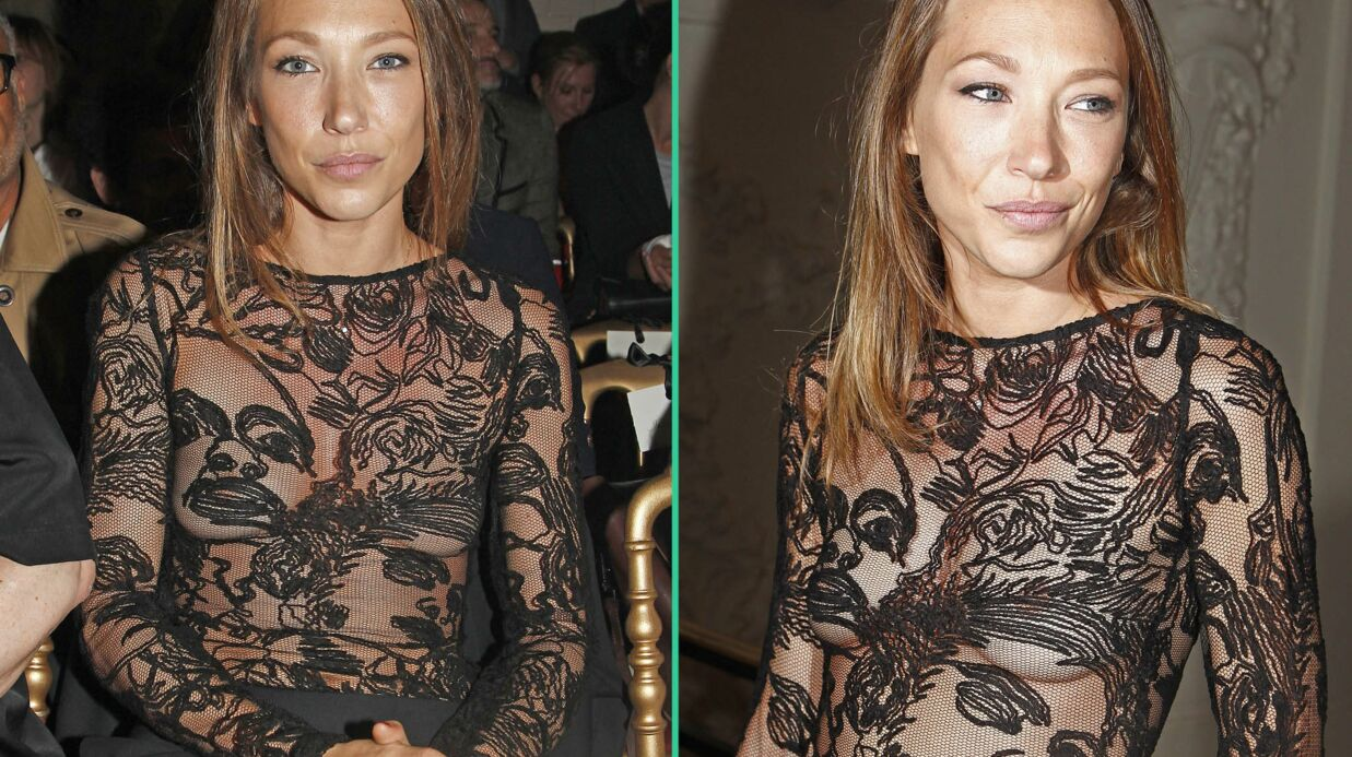 PHOTOS Laura Smet provocante en top transparent pour assister au défilé Jean Paul Gaultier