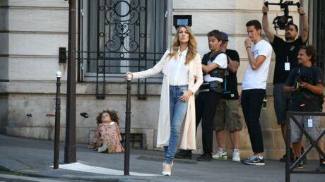 PHOTOS Céline Dion en tournage dans les rues de Paris pour le clip d'Encore un soir