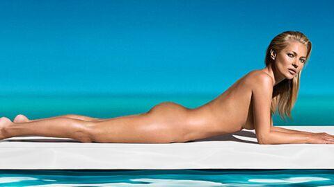 DIAPO Kate Moss pose nue pour une marque d'autobronzant