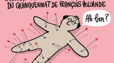 Louison a croqué: Valérie Trierweiler souhaite bonne chance à François Hollande