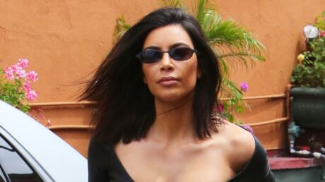 PHOTOS Kim Kardashian dévoile sa poitrine dans une robe sexy en cuir