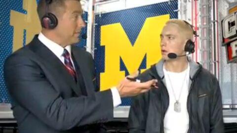 VIDEO Eminem complètement stone à la télé américaine