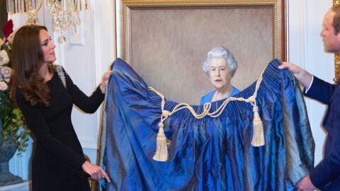 PHOTOS Kate et William inaugurent un portrait (un peu raté) de la Reine