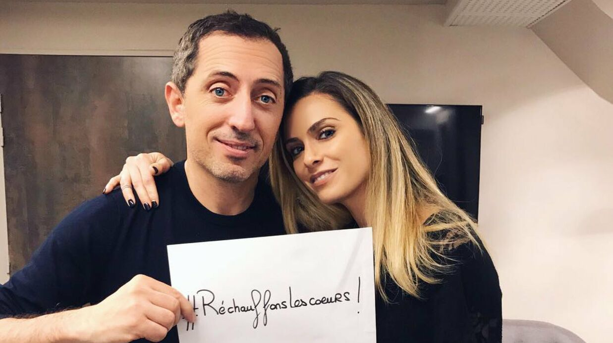 PHOTO Gad Elmaleh pose avec Clara Morgane pour la bonne cause