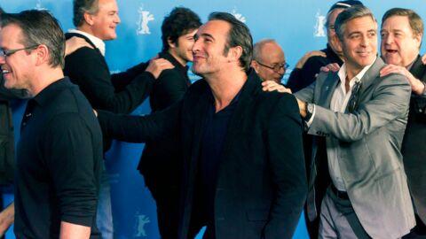 PHOTOS Jean Dujardin fait la chenille avec George Clooney, Matt Damon et Bill Murray