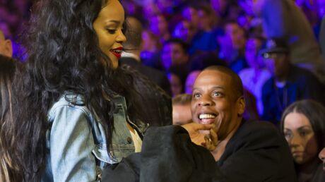 PHOTOS Jay-Z invite sa petite protégée Rihanna à un match de boxe