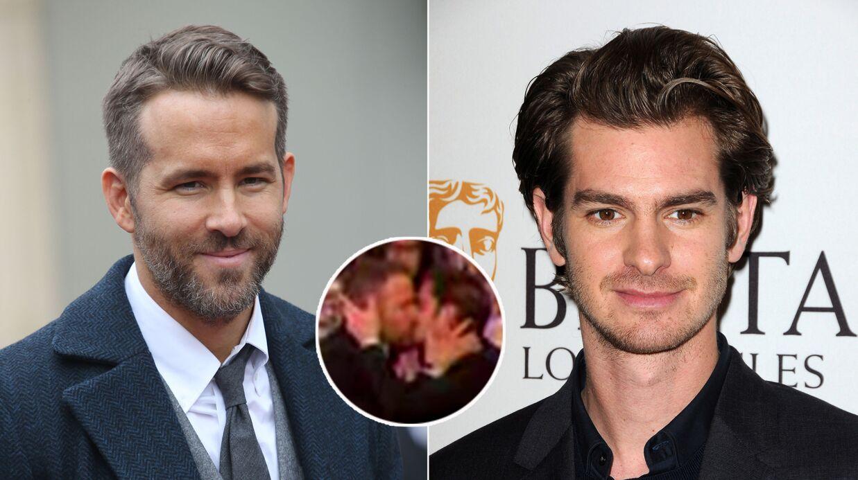 VIDEO Ryan Reynolds et Andrew Garfield se roulent une grosse pelle aux Golden Globes