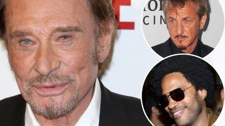 PHOTO Johnny Hallyday passe une «super soirée» avec ses potes Sean Penn et Lenny Kravitz