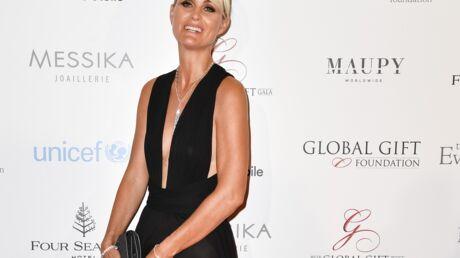 PHOTOS Grosse galère de robe pour Laeticia Hallyday qui montre sa culotte et sa poitrine à un gala