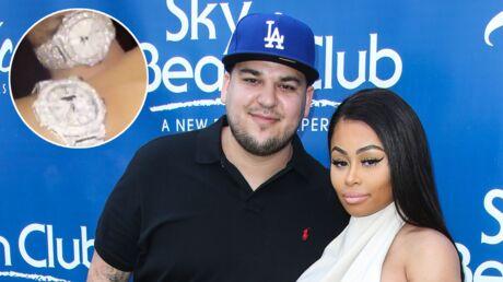 Après le braquage de Kim, Rob Kardashian et Blac Chyna affichent leurs nouvelles montres en diamants sur Snapchat